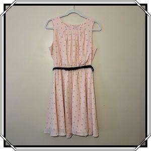 Elle Light Pink Sleeveless Dress Size Medium